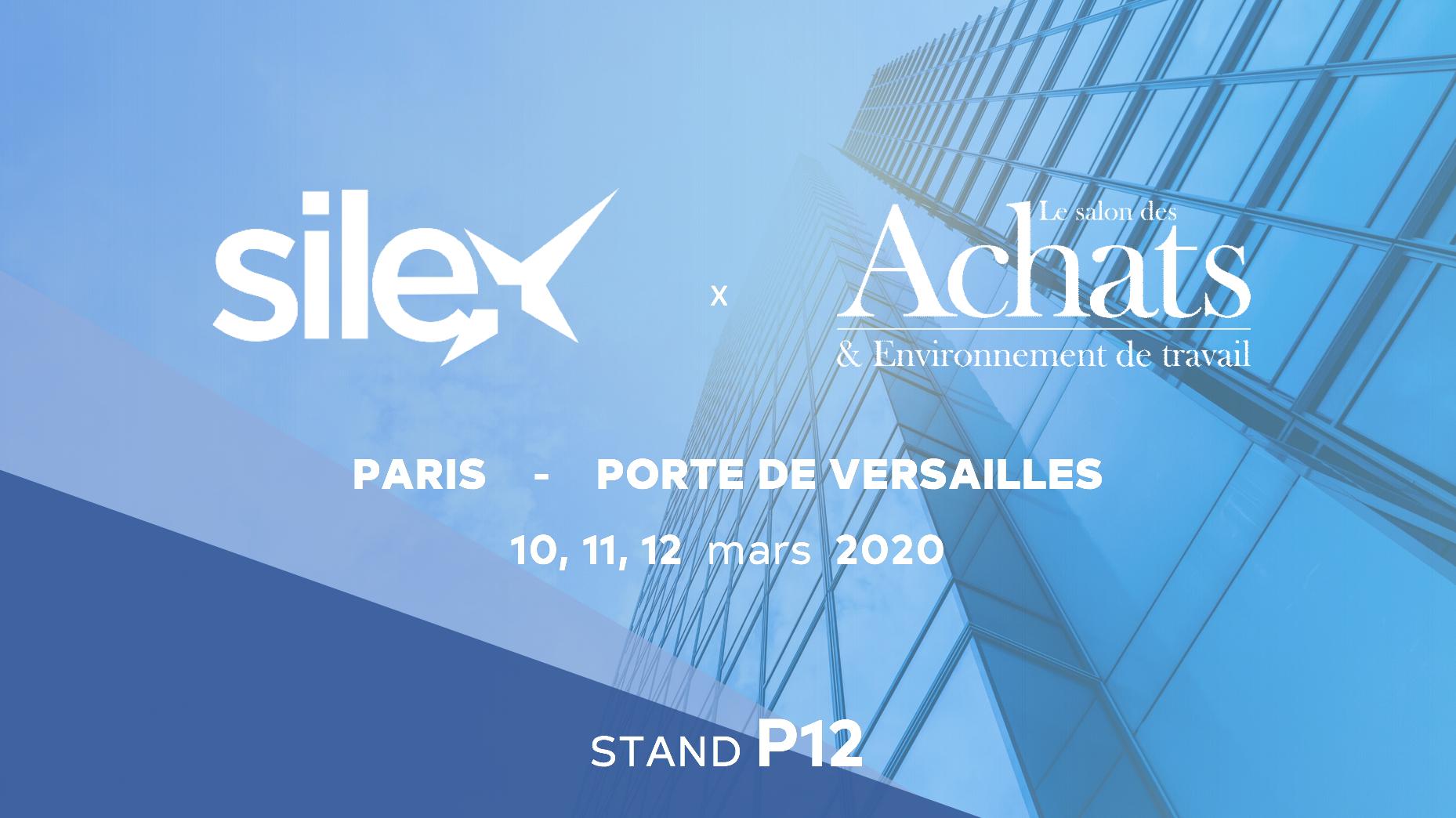 Retrouvez toute l'équipe Silex sur le stand P12 du Salon des Achats 2020 !