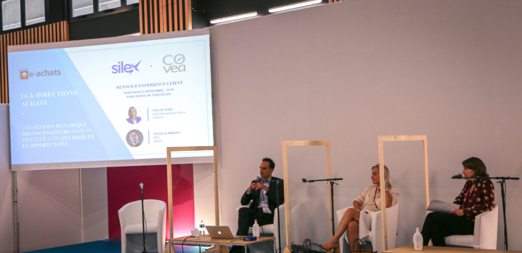 Nicolas Bridey, PDG de Silex, aux côtés de Sylvie Noel, Chief Procurement Officer.